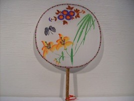 Silk Panted Floral Butterfly Palace Handheld Fans n034 - $9.99