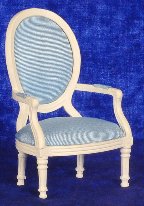 DOLLHOUSE MINIATURES JEFFERSON LOUIS XVI ARMCHAIR #T5601