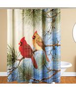 Winter Solitude Cardinal Shower Curtain  - $30.88