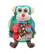 Folk-custom Handmade Monkey Style Shoulder Bag, School Bag for Kids,Green - $17.71