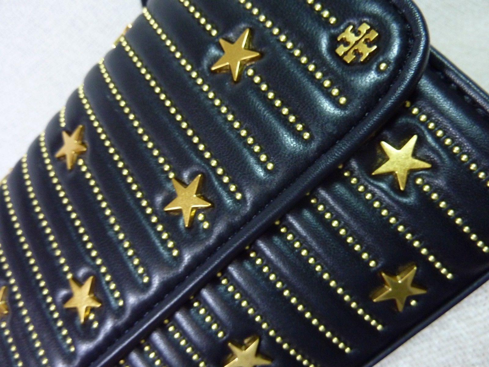 NWT Tory Burch Black Fleming Star-Stud Small Convertible Bag image 7