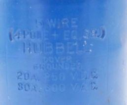 HUBBELL 5 WIRE (4 POLE + EQ. GR.) 20A 250 VDC, 30A 600VAC PLUG image 3