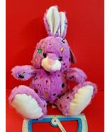 Purple Bunny Plush Easter Rabbit Stuffed Animal Goffa Sparkle Soft Toy H... - $5.69