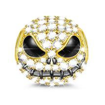 GNOCE Little Monster Black Plated 925 Sterling Silver Beads Charms with ... - $42.38
