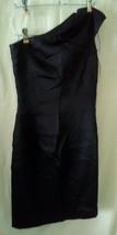 JAX Junior Size 4 Dress Black Cocktail Party Dressy One Shoulder Zip Up ... - $41.98