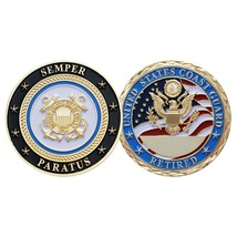 "USCG UNITED STATES COAST GUARD RETIRED 1.75"" CHALLENGE COIN - $17.14"