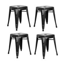 """Offex 4 Piece Modern Kitchen 18""""H Metal Bar Stool - Black - $143.91"""