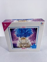 Ceaco Cat Puzzle Cat Long Haired With Jewelry And Feather Headpiece Kitty - $12.64