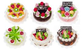 DOLLHOUSE MINIATURES 6PC HAND MADE ASSORTED CAKES SET  #G7503B - $47.99