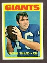 1972 TOPPS FOOTBALL #118 NORM SNEAD CARD- NEW YORK GIANTS - $2.92
