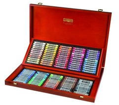 Dry pastels TOISON D`OR 120 Colors  KOH-I-NOOR 8539 in a wooden box supe... - $251.52