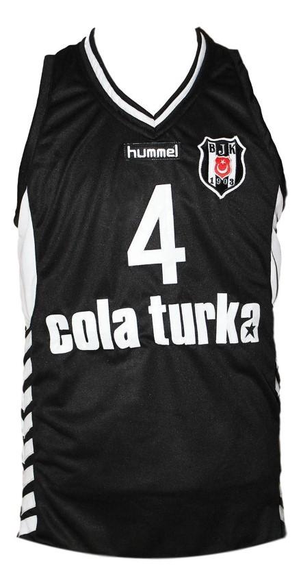 Allen iverson besita cola turka basketball jersey black   1