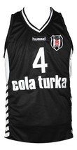Allen Iverson Cola Turka Basketball Jersey New Sewn Black Any Size image 1