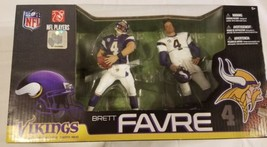 Brett Favre 2 Pack Minnesota Vikings Mcfarlane Toys Action Figures NEW N... - $29.39