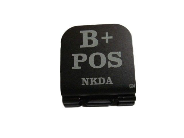 Primary image for B+ POS NKDA Laser Etched Aluminum Hat Clip Brim-it