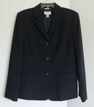 Talbots Wool Pencil Skirt 10 Jacket 12 Suit Set Blue Stretch Made in USA... - $79.98