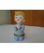 "HOMCO Porcelain Bisque Boy Figurine Kneeling Saying Bedtime Prayers 4.25"" - $3.99"