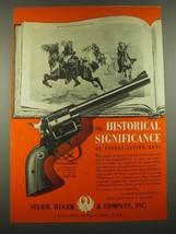 1960 Ruger Blackhawk Revolver Ad - art by Charles Schreyvogel - $14.99