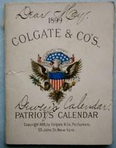 Miniature 1899 Colgate & Co's Patriots Calendar... - $19.80