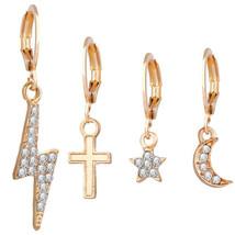 NWT boutique grey Lightning Bolt Druzy Drop Earrings fashion jewelry tre... - $8.81