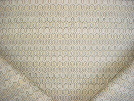 12Y THIBAUT ECRU, GREY, TAUPE TEXTURED BARGELLO DRAPERY UPHOLSTERY FABRIC - $237.60