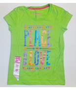 Hanes Girls Graphic T-Shirts Peace Love Sizes XS, S, M, Lg and XLg NWT - $6.49