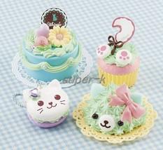 "Japanese DIY Whipple ""Animal Sweets Cat Set"" Fake Sweets Key Chain Makin... - $35.06"