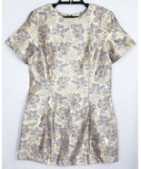 Atmosphere Womens Size Small Floral Multi Color Shimmer Short Sleeve Min... - $20.30
