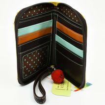 Chala Handbags Faux Leather Whimsical Llama Yellow Zip Around Wristlet Wallet image 3