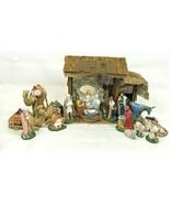 Vintage Nativity Scene Holland Mold Creche Lot Christmas Figures Handpai... - $494.01