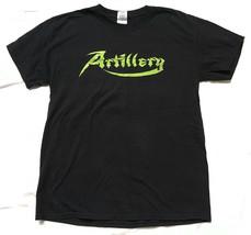 ARTILLERY Tour Concert T-shirt Black & Green Canada and USA Size Medium ... - $5.89