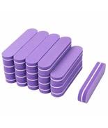 Nail Files Sandpaper Buffers Purple Sponge Block 100/180 60Pcs/lot Mini ... - $17.85