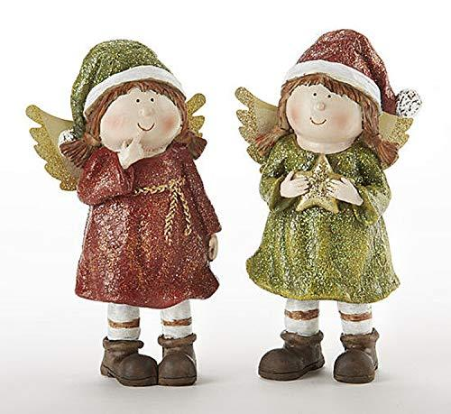 Delton 5.9� Resin Christmas Angels, Set of Two