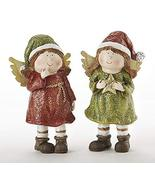 """Delton 5.9"""" Resin Christmas Angels, Set of Two - £9.35 GBP"""