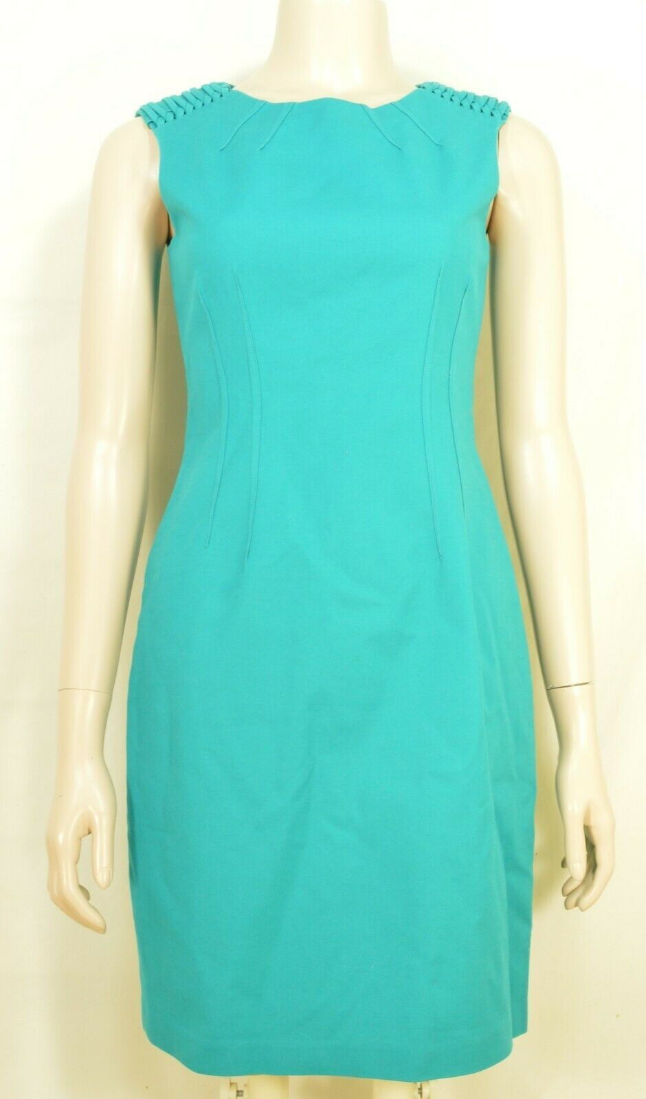 Elie Tahari dress SZ 2 LOT of 2  1 turquoise 1 floral sheath career chic lined image 11