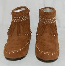 I Love Yo Kids AVA 78K Girls Fringe Boot Rust Silver Studded Size 1 image 2
