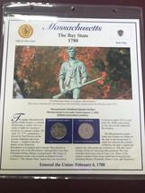 2000 Massachusetts Quarter P&D Mint Postal Commemorative Society - $5.79