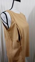 Breastfeeding Nursing Gold Tank Top Sz L Cotton Stretch Zip to Feed Tech... - $9.49