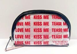 Victoria's Secret Love Me Kiss Me Tease Me Clear Travel Beauty Bag New - $10.40