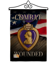 Purple Heart Combat Wounded Burlap - Impressions Decorative Metal Wall H... - $36.97