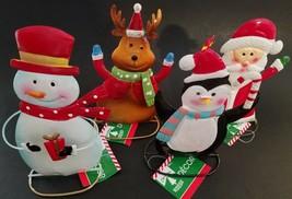 """Christmas Tabletop Metal Figurines, 5"""" x 6.75"""", Select: Icon - $2.99"""