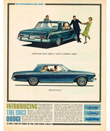 Vintage 1963 Magazine Ad Dodge You Can't Afford Not To Get Carried Away ... - $5.93