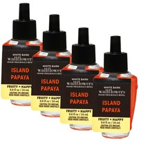 4-Pack Bath & Body Works ISLAND PAPAYA Fragrance Wallflowers Refills Bulb - $25.69