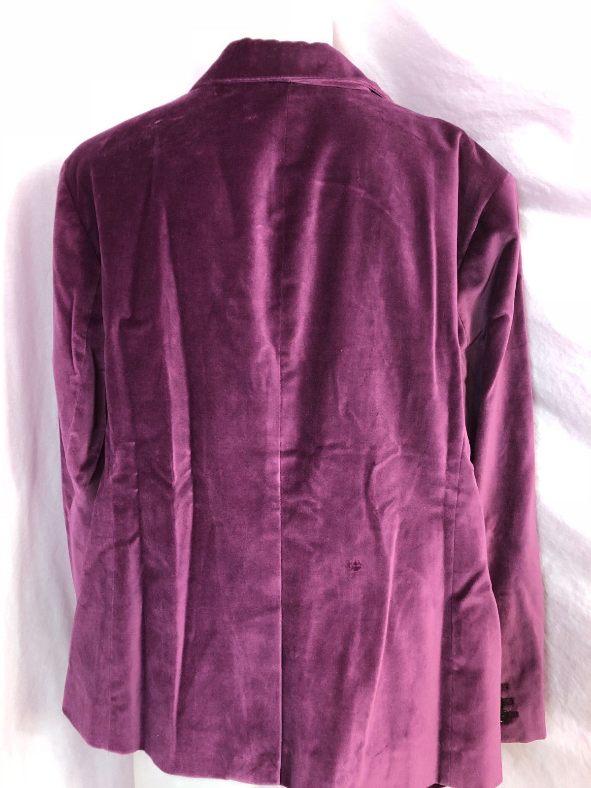 Talbots Woman Velveteen One Button Blazer Size 20WP, Plum, NWT