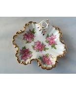 Ucagco Japan Ceramic Plate Vintage Platter Roses Gold Trim Leaf Dish Hom... - $46.49