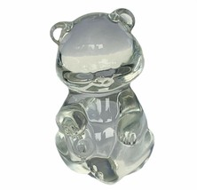 Fenton art glass birthday stone teddy bear paperweight figurine sculptur... - $19.30