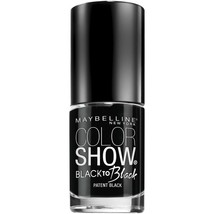 Maybelline Color Show Back to Black Nail Polish, 700 Patent Black  - $6.92