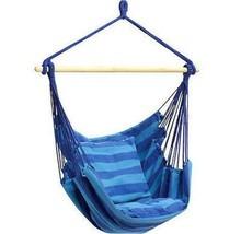 Blu da Parete Corda Sedia Veranda Swing Sedile Relax Patio Campeggio Max... - $36.63