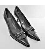 Stuart Weitzman Womens Black Leather Kilted Embellished Size US 7.5 Narrow - $57.48