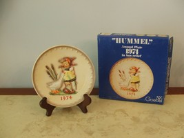 Hummel Goebel 4th Annual Plate Goose Girl 1974 Size 7.5 inch Number 267 ... - $59.39